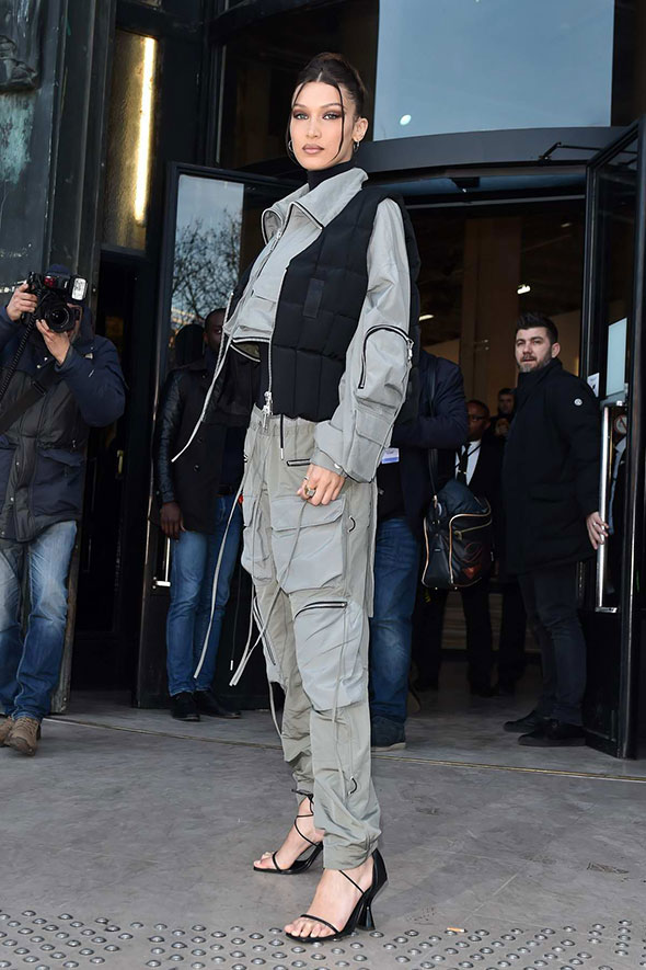 Bella Hadid wearing Stainless Ankle Strap