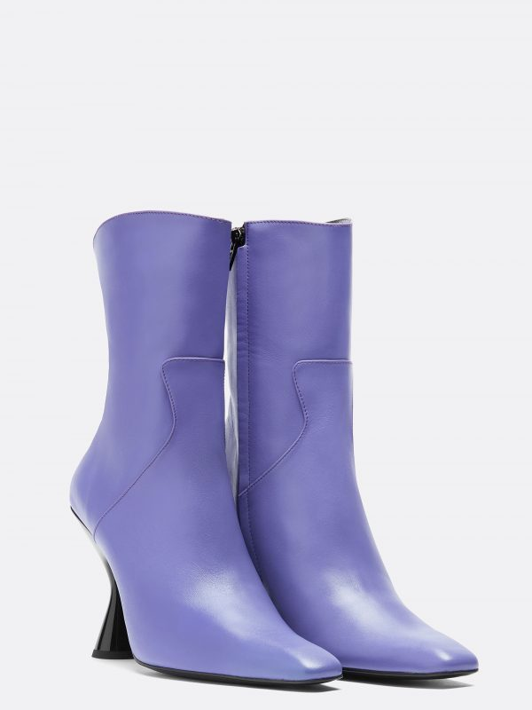 Stainless Ankle Boot Lilac Leather