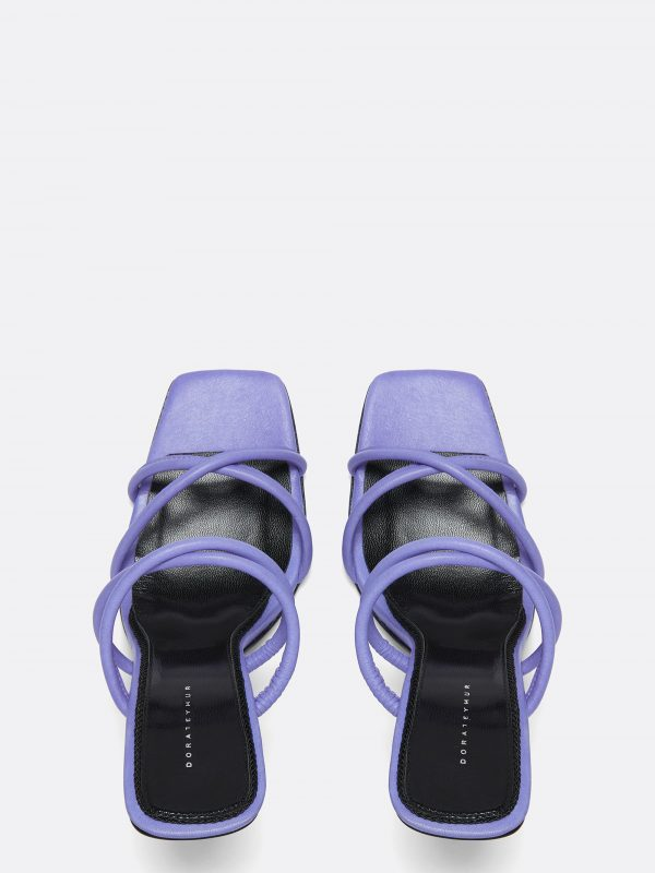 Stainless Sandal Lilac Leather
